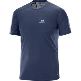 Salomon Trail Runner SS Tee Men Dress Blue